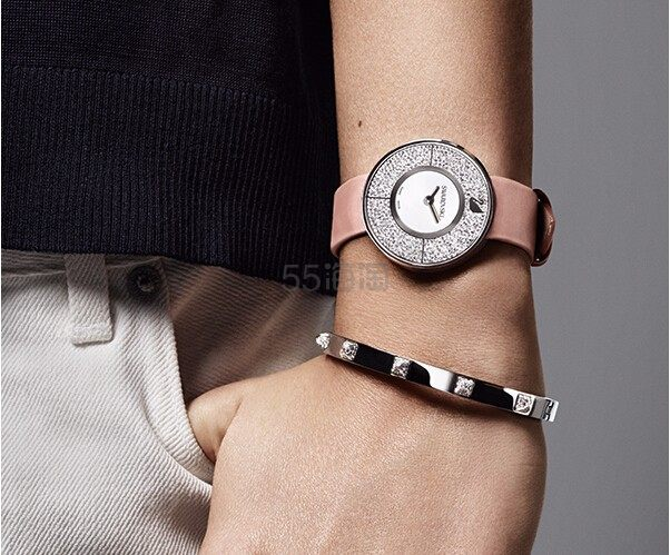 【国内售价3700+】Swarovski 施华洛世奇  白金色经典水晶腕表 带有可替换表带 $239(约1731元)