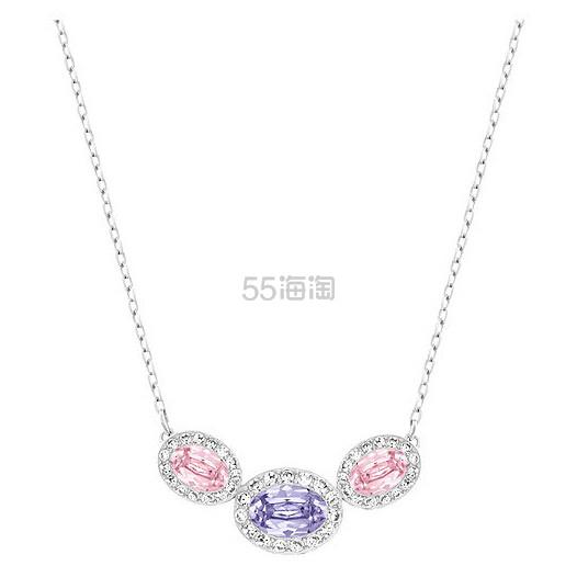 【限时超高返利!】Swarovski 施华洛世奇 Christie Frontal Oval 镶钻三颗圆水晶项链 $49.5(约359元)