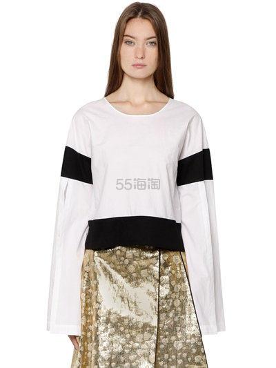 今夏没有超长袖怎么混时尚圈?ODEEH 超长袖设计感上衣 3.2(约1037元)