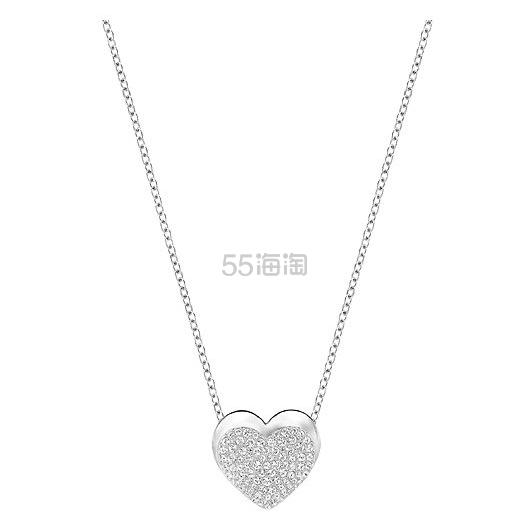 【七夕送礼好物!】SWAROVSKI 施华洛世奇 EVEN 天使之吻心形吊坠项链 (约500元)
