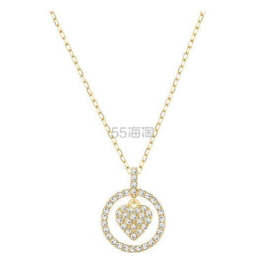 【七夕送礼好物!】Swarovski 施华洛世奇 CROCUS HEART 心形链坠镀金色项链 $44.5(约322元)