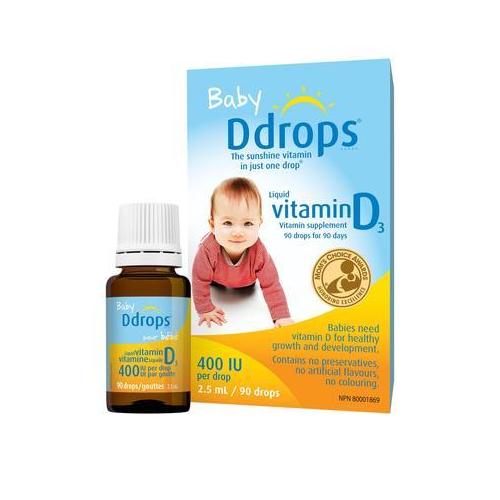 【4瓶装包邮】Ddrops 婴儿维生素D3滴剂 90滴 400IU .96(约405元)