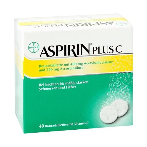 【德国小药推荐】AspirinPlus 阿司匹林维生素C泡腾片 40粒 99元