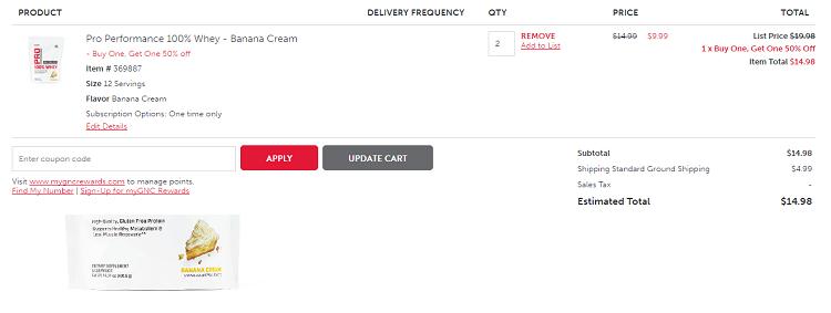 【买一件第二件享半价!】GNC 健安喜 乳清蛋白粉 405.6g .49(约54元)