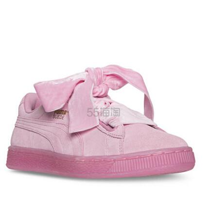 Puma 彪马 Suede Heart 马卡龙粉色麂皮蝴蝶结运动鞋 3色选 $49.98(约362元)