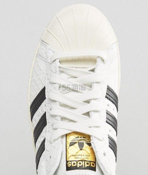 免费直邮中国!Adidas Originals 三叶草 Superstar 80's 女士金标小白鞋