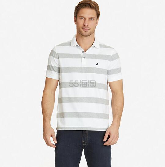 【美境免邮!】Nautica 诺帝卡 CLASSIC FIT 男士纯棉条纹 POLO 衫 多色选