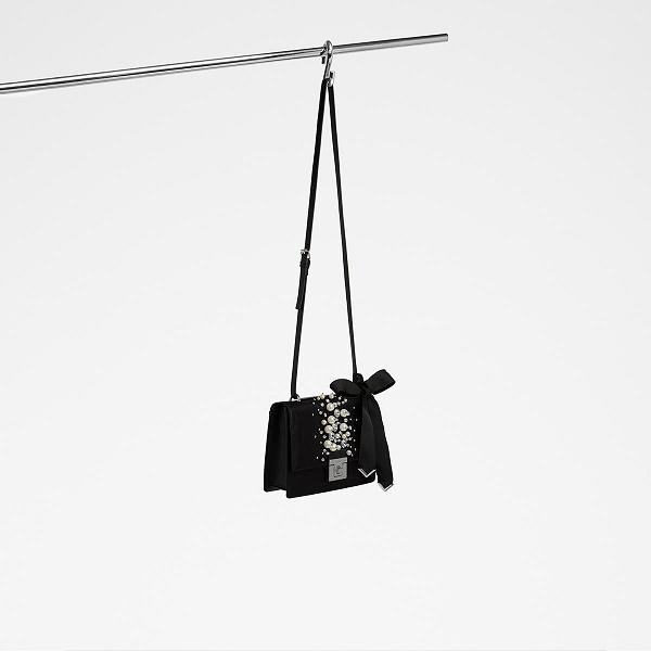 【美亚直邮】Aldo 奥尔多 Hiari 珍珠单肩斜挎包 黑色