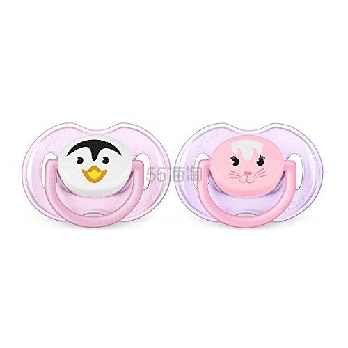【中亚Prime会员】Philips Avent 飞利浦新安怡 宝宝安抚奶嘴 2只装 适合0-6个月宝宝