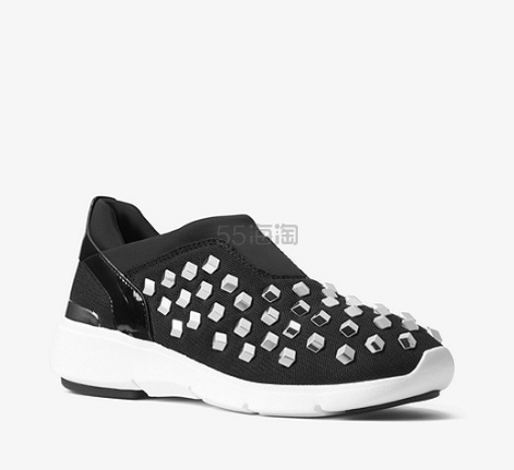 MICHAEL Michael Kors Ace Studded 女士铆钉运动鞋 黑/白色