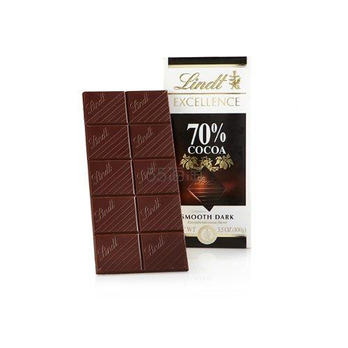 【买二赠一】Lindt Excellence 70%可可巧克力排 100g