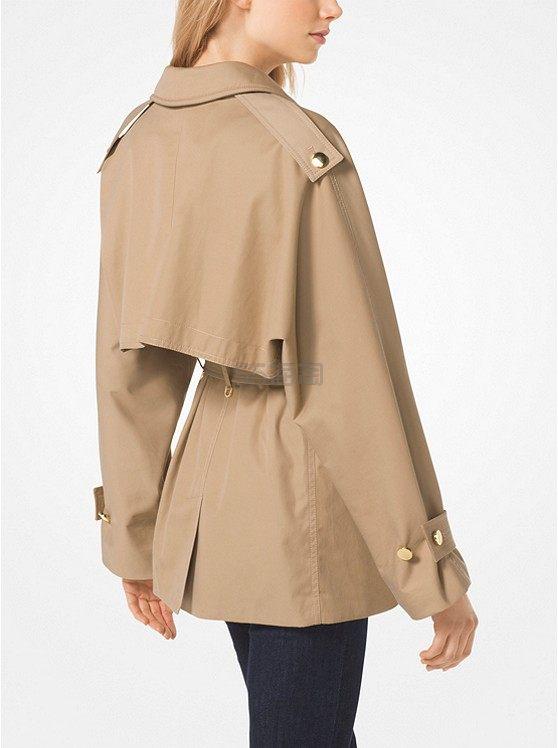MICHAEL Michael Kors Sateen Trench 女士束腰短款风衣