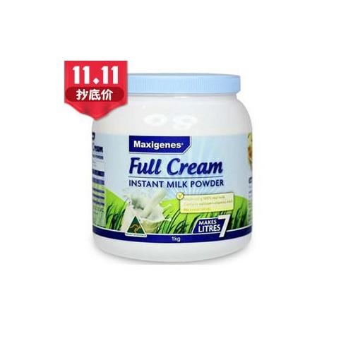 【立减5澳+免邮】Maxigenes 美可卓 澳洲蓝胖子奶粉 高钙 成人全脂奶粉 1kg