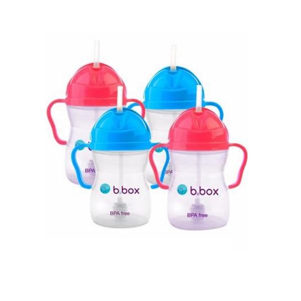 【包邮套装+单支约69元】B.box 婴幼儿重力球吸管杯 防漏 240ml*4件