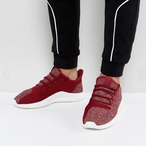 免费直邮中国!adidas Originals 阿迪达斯 Tubular Shadow 男士小椰子 酒红配色