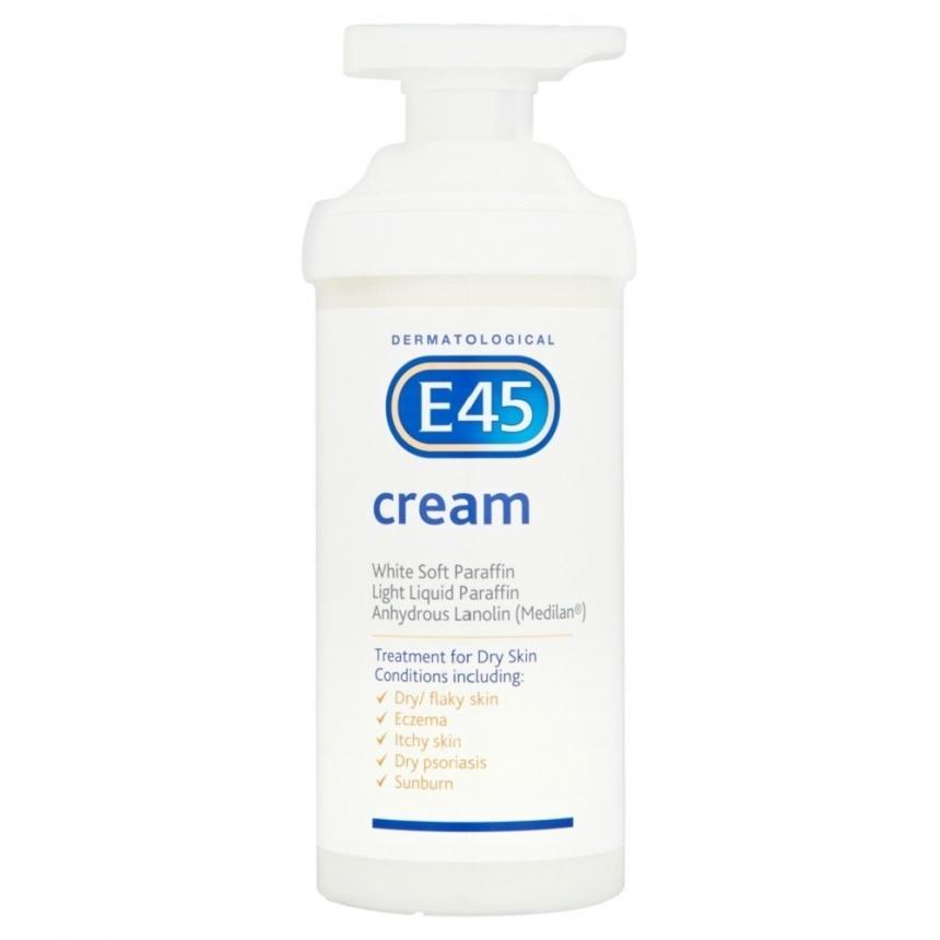 【中亚Prime会员】E45 Cream 保湿乳霜不油腻面霜 500g 婴儿可用