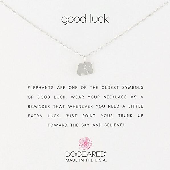 超低价!【中亚Prime会员】Dogeared Love Good Luck 小象纯银项链