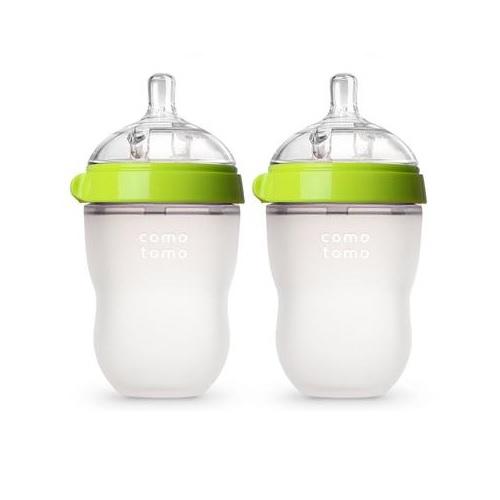 【立减$5+免邮】Comotomo 可么多么 自然感觉硅胶奶瓶 两色可选 250ml*2个