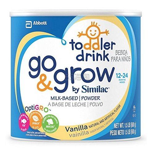 【中亚Prime会员】Abbott 雅培 Go & Grow 幼儿含铁奶粉 香草味 24盎司(4包)