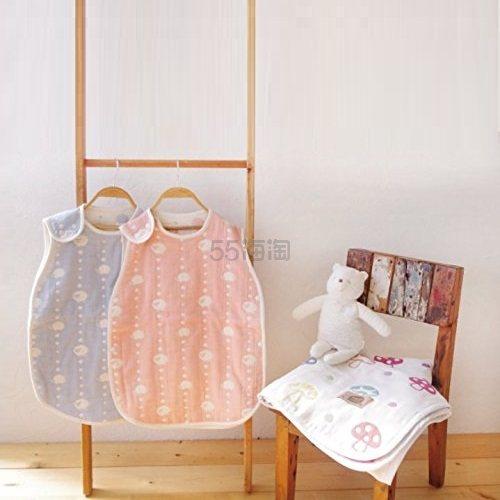 【中亚Prime会员】Hoppetta champignon 婴儿6层纱布睡袋 天空蓝