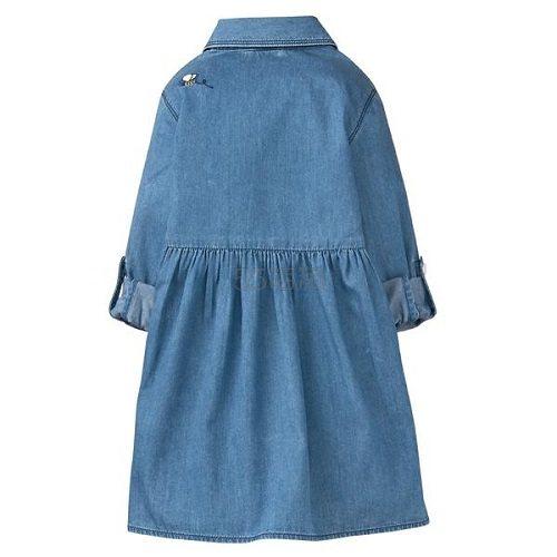 【5折+满减+免邮】新品!Gymboree 金宝贝:刺绣图案长袖牛仔裙 女童