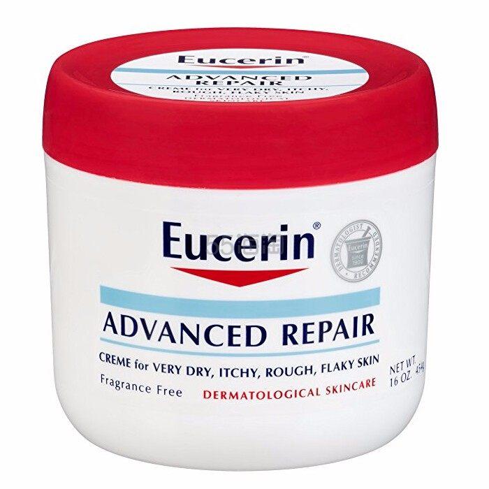 万能霜!【中亚Prime会员】Eucerin 优色林 天然舒缓密集修复保湿霜 454g