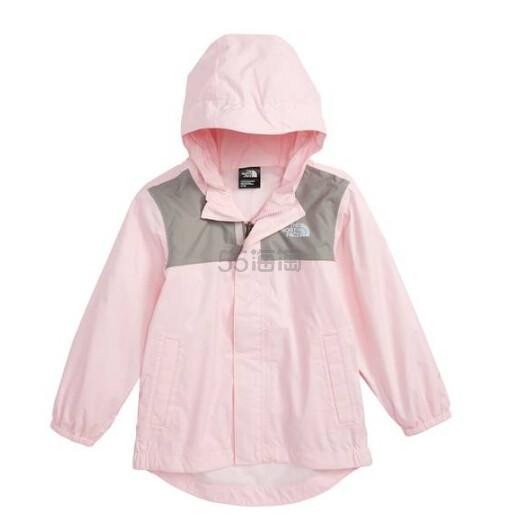 仅3T有货~The North Face Tailout Hooded Rain Jacket 童款粉色防水夹克