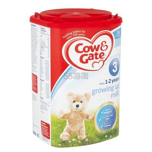 【中亚Prime会员】Cow & Gate 英国牛栏 3段婴幼儿成长奶粉900g