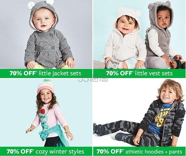 【秒杀黑五】Carter's:精美童装、童鞋、配饰等