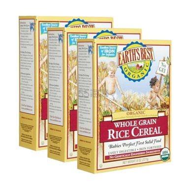 【双12】Earth's Best 地球最好 有机高铁全谷物糙米米粉 1段 4个月+ 227g*3盒