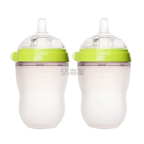 【单只仅要¥65】Comotomo 可么多么 婴儿硅胶奶瓶 绿色 250ml*2