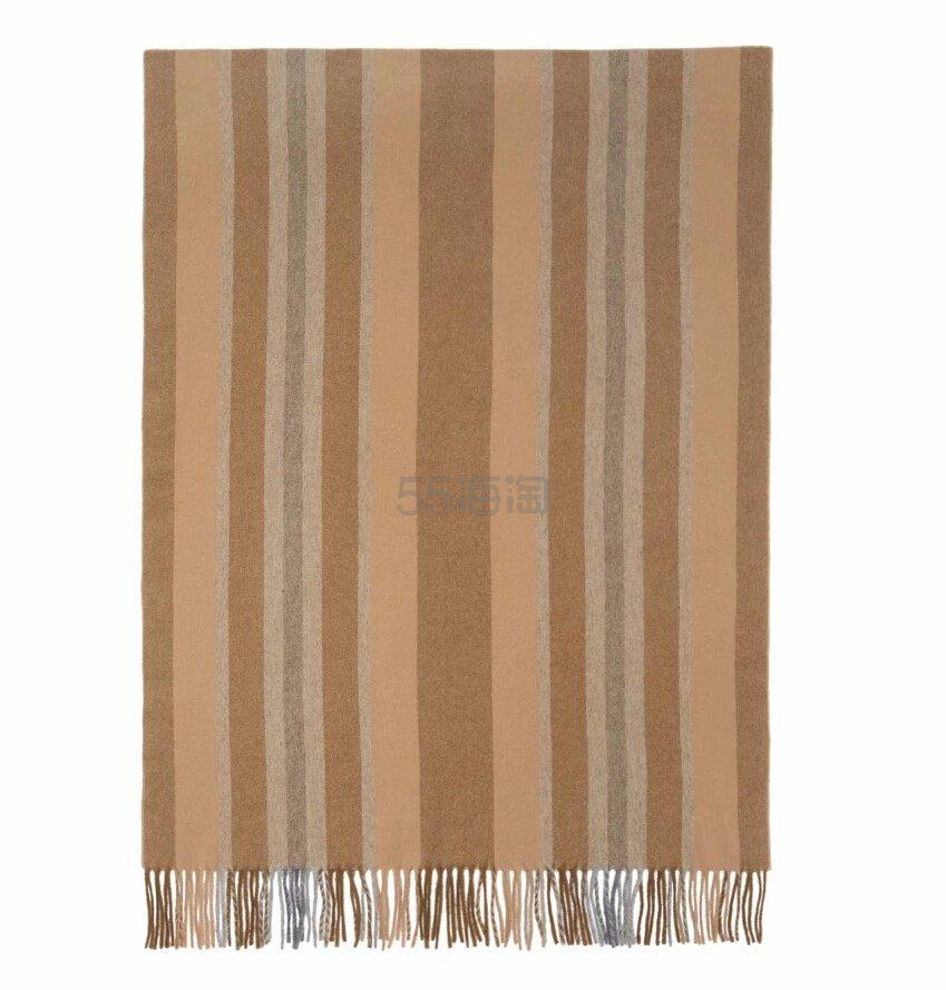 好价可入~~Acne Studios Brown Striped Canada Scarf 棕色条纹羊毛围巾