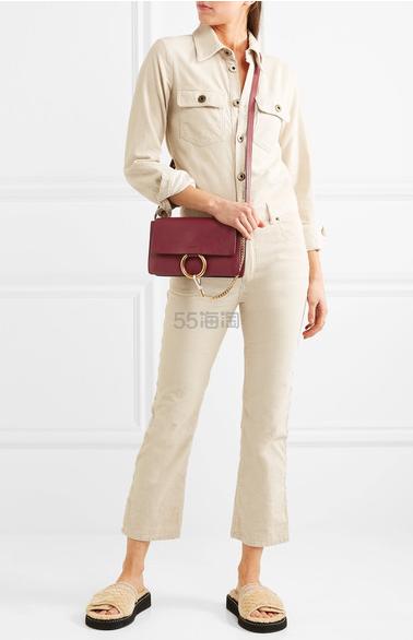 Chloe Faye textured-leather 单肩包