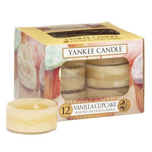 4件0关税!【中亚Prime会员】Yankee Candle 扬基蜡烛 香薰无烟蜡烛12块 香草蛋糕香味