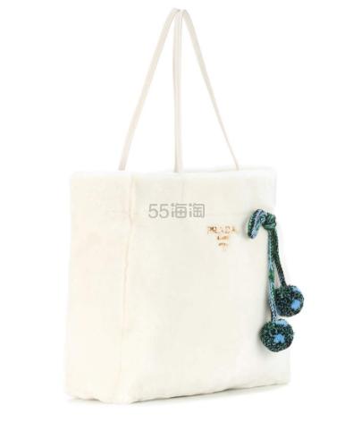 Prada 普拉达 皮草购物袋