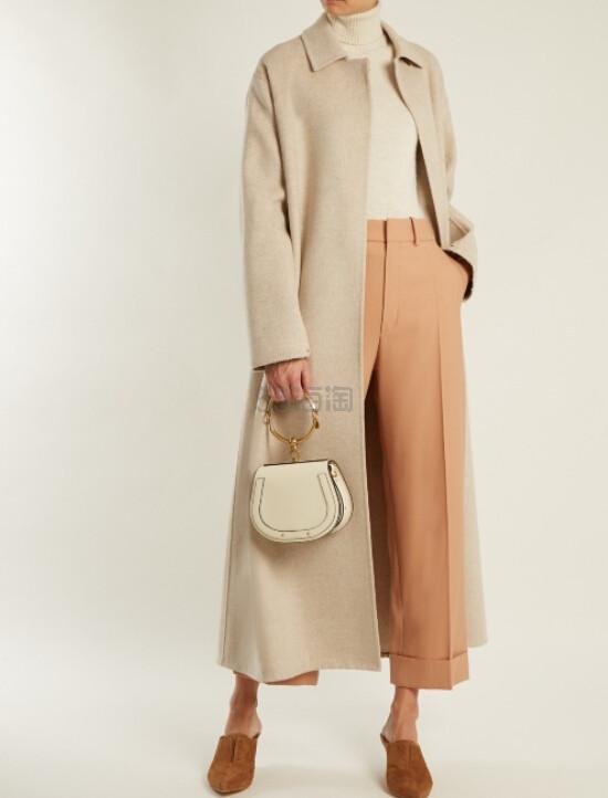 郑秀妍 同款 CHLOÉ  Nile small leather and suede cross-body bag 当红包包