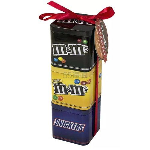 【超值礼盒装】M&M's+Snickers M&M豆+士力架 铁盒装礼盒 3种口味