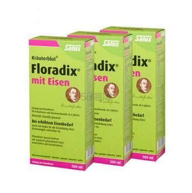 【史低价】Salus Floradix 铁元 补血补气抗疲劳 500ml*3瓶