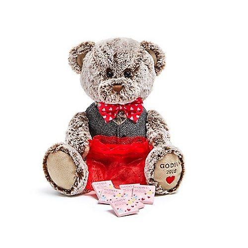 【情人节精选】Godiva 歌帝梵 2018情人节限量版泰迪熊&方形巧克力 6颗