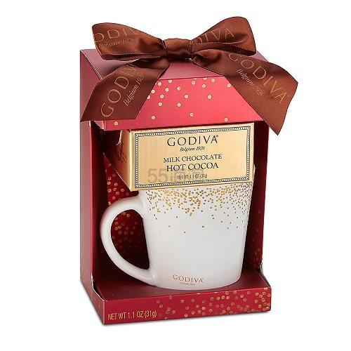 【7.5折】Godiva 歌帝梵 牛奶巧克力热可可&马克杯礼盒 红色 31g