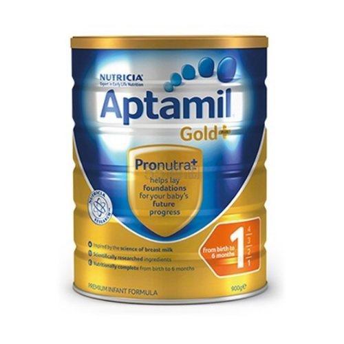 【3罐60澳】Nutricia Aptamil 爱他美金装 婴儿配方牛奶粉 0-6个月 1段 900g