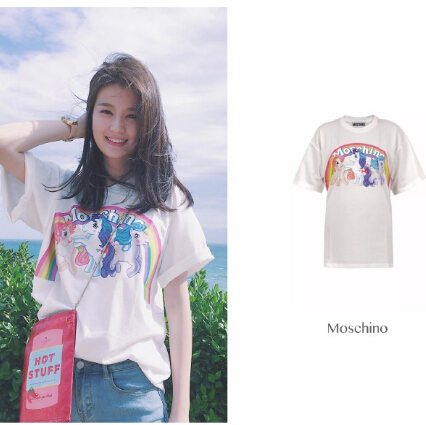 乔欣同款 MOSCHINO  My Little Pony 印花T恤