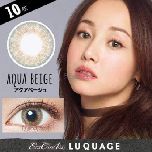 【满额免费直邮中国+会员限定立减1000日元】ever color 1day natural 浅棕色日抛美瞳 10枚装