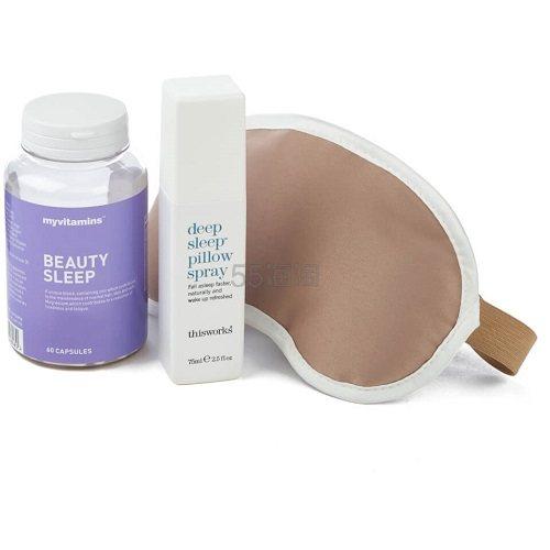 【55专享】断货王!Myvitamins Beauty Sleep 睡美人套装 保健+喷雾+眼罩