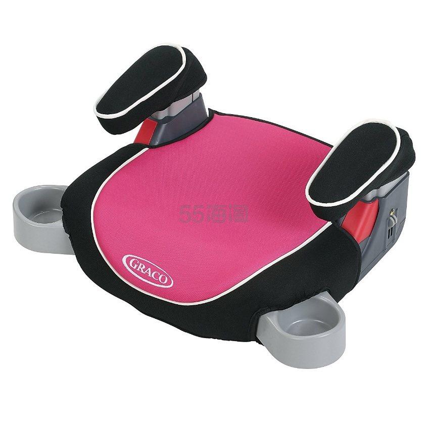 【中亚Prime会员】Graco 葛莱 Backless 无靠背汽车安全增高座椅 黑色+玫粉色