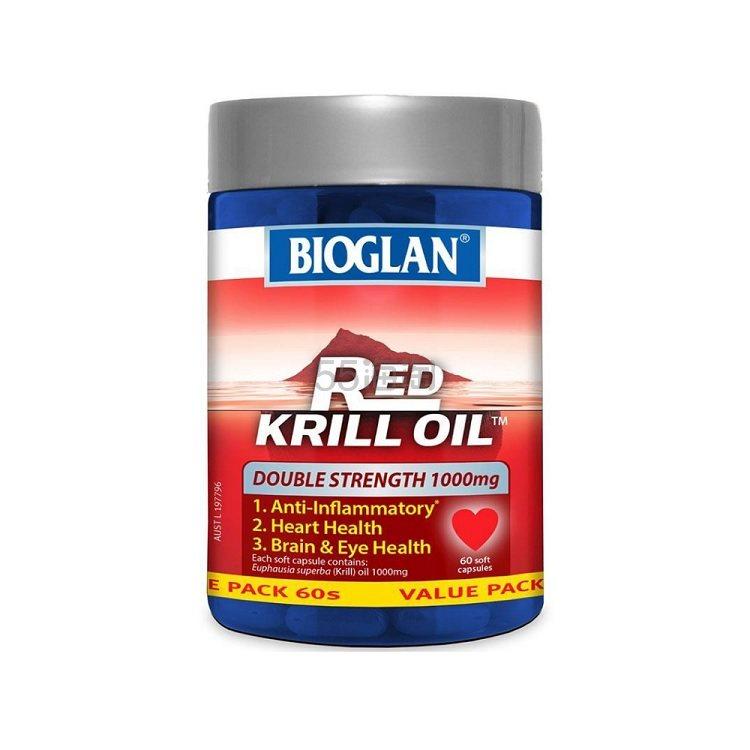 【再降】Bioglan Red Krill Oil 红磷虾油 1000mg 60粒 19.99澳币(约95元) - 海淘优惠海淘折扣|55海淘网