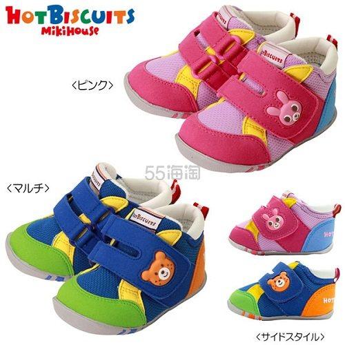 【高返+支付宝日9.5折+免邮中国】MIKIHOUSE HOTBISCUITS 1段学步鞋