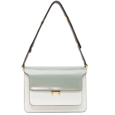 Marni Green & White Medium Trunk Bag 薄荷色拼色包包