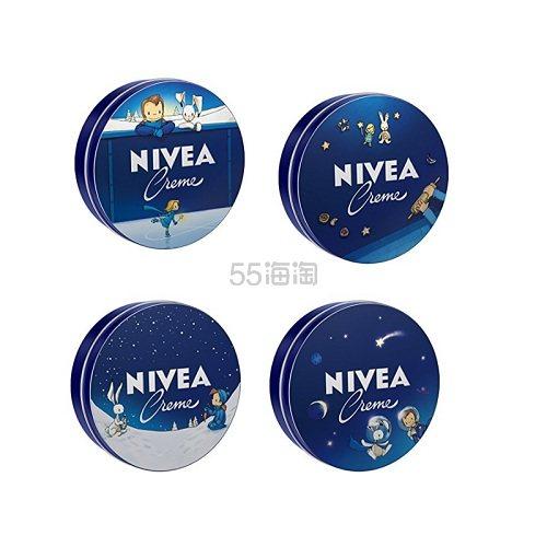 【中亚Prime会员】Nivea 妮维雅 大蓝罐润肤霜/身体乳 童话限定版 4*400ml