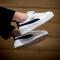 明星同款!FENTY PUMA by Rihanna Creeper Sneaker 女款真皮小白鞋